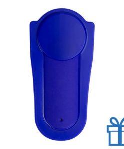 Mobiele telefoonhouder silicoon zelfklevend blauw bedrukken