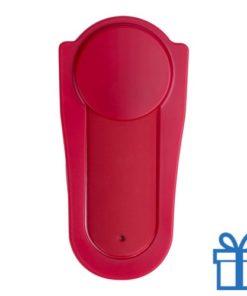 Mobiele telefoonhouder silicoon zelfklevend rood bedrukken