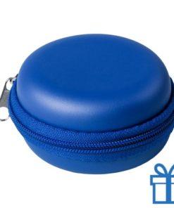 Multi-functionele hoes PU blauw bedrukken