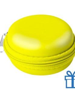 Multi-functionele hoes PU geel bedrukken