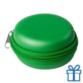 Multi-functionele hoes PU groen bedrukken