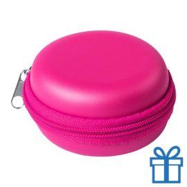 Multi-functionele hoes PU roze bedrukken
