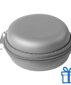 Multi-functionele hoes PU zilver bedrukken