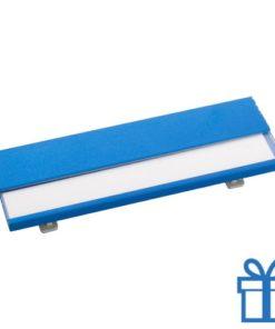 Naamplaatje goedkoop blauw bedrukken