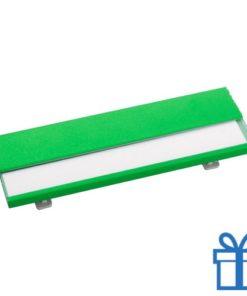 Naamplaatje goedkoop groen bedrukken
