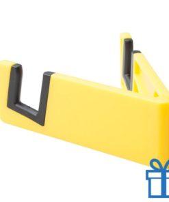 Nobiele telefoonhouder opvouwbaar geel bedrukken