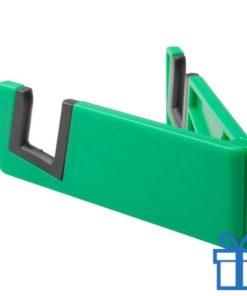 Nobiele telefoonhouder opvouwbaar groen bedrukken