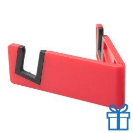 Nobiele telefoonhouder opvouwbaar rood bedrukken