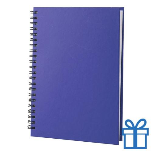 Notitie blok A5 gerecycled papier blauw bedrukken