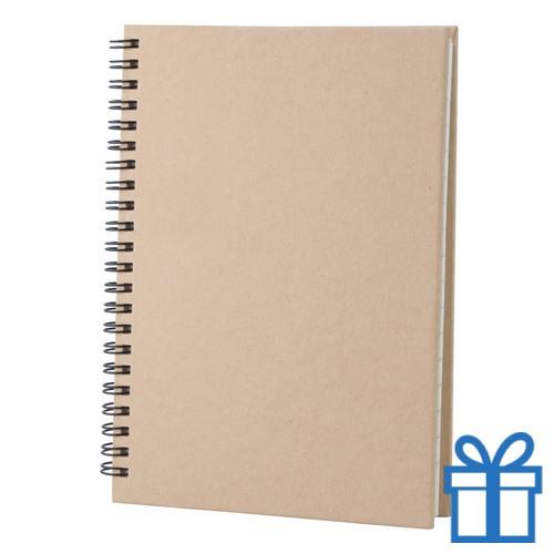 Notitie blok A5 gerecycled papier naturel bedrukken