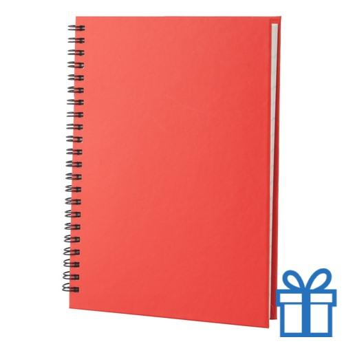 Notitie blok A5 gerecycled papier rood bedrukken