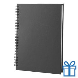 Notitie blok A5 gerecycled papier zwart bedrukken