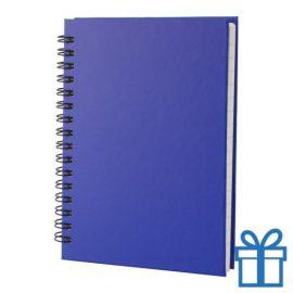 Notitie blok A6 gerecycled papier blauw bedrukken