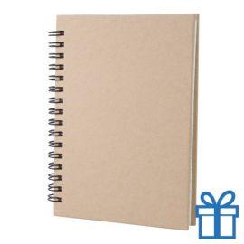 Notitie blok A6 gerecycled papier naturel bedrukken