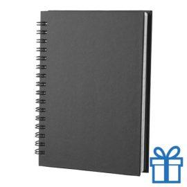 Notitie blok A6 gerecycled papier zwart bedrukken