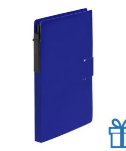 Notitieblok milieuvriendelijke balpen blauw bedrukken