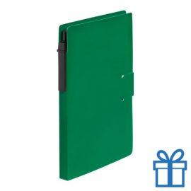 Notitieblok milieuvriendelijke balpen groen bedrukken