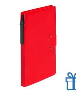 Notitieblok milieuvriendelijke balpen rood bedrukken