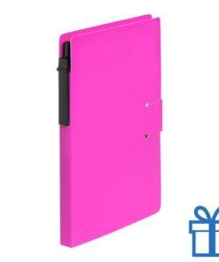 Notitieblok milieuvriendelijke balpen roze bedrukken
