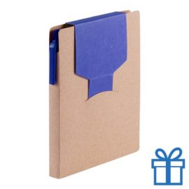 Notitieblok sticky notes blauw bedrukken