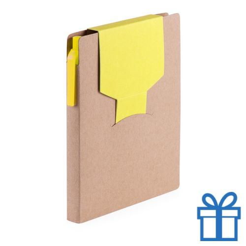 Notitieblok sticky notes geel bedrukken
