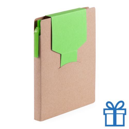 Notitieblok sticky notes groen bedrukken