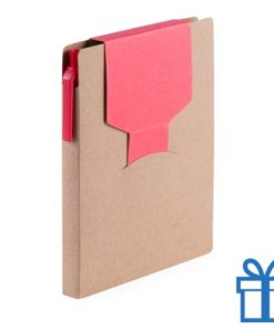 Notitieblok sticky notes rood bedrukken