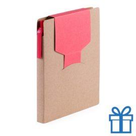 Notitieblok sticky notes rood bedrukken