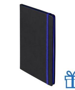 Notitieboek A5 PU cover blauw bedrukken