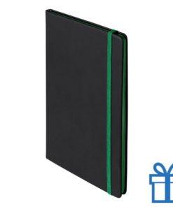 Notitieboek A5 PU cover groen bedrukken