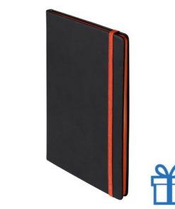 Notitieboek A5 PU cover oranje bedrukken