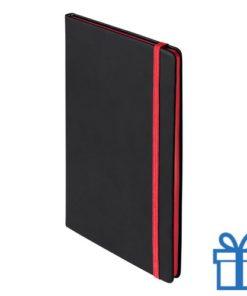 Notitieboek A5 PU cover rood bedrukken