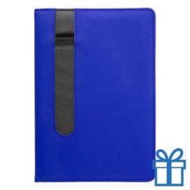 Notitieboek A5 PU lader pennenhouder groen bedrukken