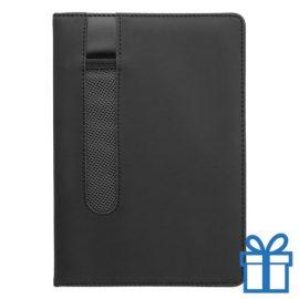 Notitieboek A5 PU lader pennenhouder zwart bedrukken