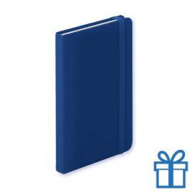 Notitieboek A5 PU leder 100 vel elastiek blauw bedrukken
