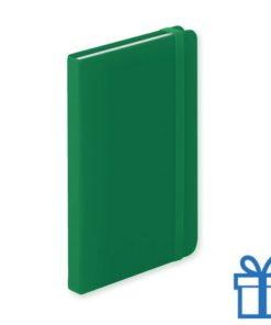 Notitieboek A5 PU leder 100 vel elastiek groen bedrukken