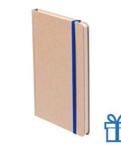 Notitieboek A5 gekleurde bladwijzer blauw bedrukken