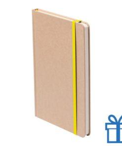 Notitieboek A5 gekleurde bladwijzer geel bedrukken
