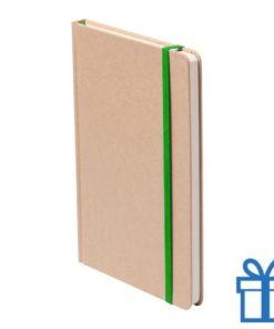 Notitieboek A5 gekleurde bladwijzer groen bedrukken