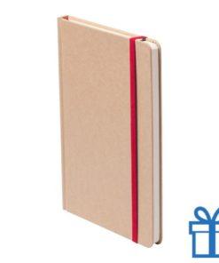 Notitieboek A5 gekleurde bladwijzer rood bedrukken