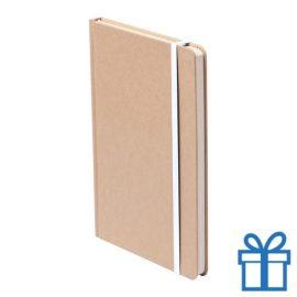 Notitieboek A5 gekleurde bladwijzer wit bedrukken