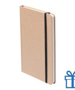 Notitieboek A5 gekleurde bladwijzer zwart bedrukken