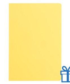 Notitieboek A5 ingebonden geel bedrukken