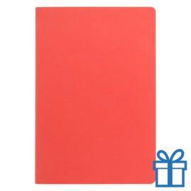 Notitieboek A5 ingebonden rood bedrukken
