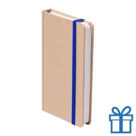 Notitieboek A5 karton bladwijzer blauw bedrukken