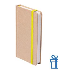 Notitieboek A5 karton bladwijzer geel bedrukken