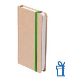 Notitieboek A5 karton bladwijzer groen bedrukken