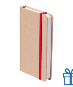 Notitieboek A5 karton bladwijzer rood bedrukken