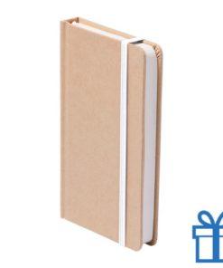 Notitieboek A5 karton bladwijzer wit bedrukken