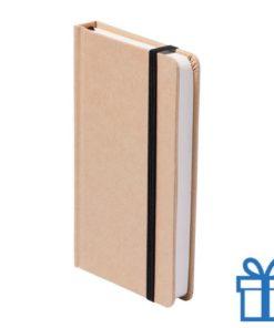 Notitieboek A5 karton bladwijzer zwart bedrukken
